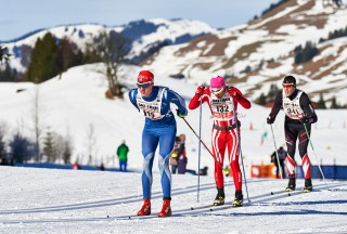Ski Trail 2016, 30.01.2016, Tannheimer Tal, Austria (AUT) - Bad Hindelang, Germany (GER): Johannes Mueller (GER), Fausto Ciprian (ITA), Peter Riedl (GER), (l-r)  - Skitrail Tannheimertal, Bad Hindelang (GER). www.nordicfocus.com. © Felgenhauer/NordicFocus. Every downloaded picture is fee-liable.