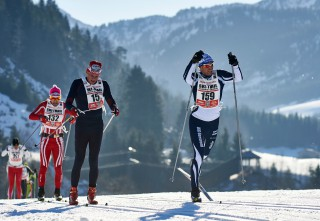 Ski Trail 2016, 30.01.2016, Tannheimer Tal, Austria (AUT) - Bad Hindelang, Germany (GER): Fausto Ciprian (ITA), Noe Noack (GER), Volkmar Weikard (GER), (l-r)  - Skitrail Tannheimertal, Bad Hindelang (GER). www.nordicfocus.com. © Felgenhauer/NordicFocus. Every downloaded picture is fee-liable.
