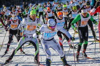 Dolomitenlauf Skating 2016, 24.01.2016, Lienz, Austria (AUT): Athletes competing in Dolomitenlauf  - FIS Marathon Cup Dolomitenlauf, Lienz (AUT). www.nordicfocus.com. © Russolo/NordicFocus. Every downloaded picture is fee-liable.