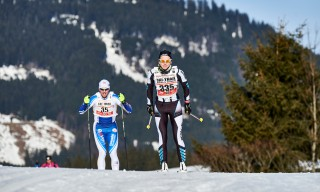 Ski Trail 2016, 30.01.2016, Tannheimer Tal, Austria (AUT) - Bad Hindelang, Germany (GER): Markus Harke (GER), Jessica Mueller (GER), (l-r)  - Skitrail Tannheimertal, Bad Hindelang (GER). www.nordicfocus.com. © Felgenhauer/NordicFocus. Every downloaded picture is fee-liable.