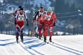 Ski Trail 2016, 30.01.2016, Tannheimer Tal, Austria (AUT) - Bad Hindelang, Germany (GER): Marco Geiger (GER), Stefano Ciprian (ITA), (l-r)  - Skitrail Tannheimertal, Bad Hindelang (GER). www.nordicfocus.com. © Felgenhauer/NordicFocus. Every downloaded picture is fee-liable.