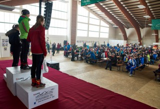 Ski Trail 2016, 30.01.2016, Tannheimer Tal, Austria (AUT) - Bad Hindelang, Germany (GER): victory ceremony  - Skitrail Tannheimertal, Bad Hindelang (GER). www.nordicfocus.com. © Felgenhauer/NordicFocus. Every downloaded picture is fee-liable.