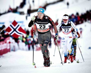 Wintersport, 05.12.2015, Lillehammer, Norway (NOR):Sandra Ringwald (GER), Maria Rydqvist (SWE), (l-r)  - FIS world cup cross-country, skiathlon women, Lillehammer (NOR). www.nordicfocus.com. © Felgenhauer/NordicFocus. Every downloaded picture is fee-liable.