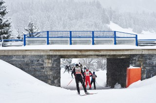 Skitrail Tannheimer Tal Bad Hindelang 2015, 25.01.2015, Tannheimer Tal, Austria (AUT): racers in the tunnel