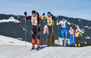 Ski Trail 2016, 30.01.2016, Tannheimer Tal, Austria (AUT) - Bad Hindelang, Germany (GER): Benjamin Waidelich (GER), Michael Schnetzer (GER), Marcel Bock (GER), (l-r)  - Skitrail Tannheimertal, Bad Hindelang (GER). www.nordicfocus.com. © Felgenhauer/NordicFocus. Every downloaded picture is fee-liable.