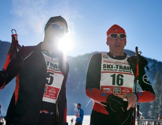 Ski Trail 2016, 30.01.2016, Tannheimer Tal, Austria (AUT) - Bad Hindelang, Germany (GER):Benjamin Waidelich (GER), Peter Milz (GER), ++, (l-r)  - Skitrail Tannheimertal, Bad Hindelang (GER). www.nordicfocus.com. © Felgenhauer/NordicFocus. Every downloaded picture is fee-liable.