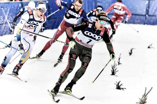 Wintersport, 05.01.2016, Oberstdorf, Germany (GER):Carl Quicklund (SWE), Sebastian Eisenlauer (GER), (l-r)  - FIS world cup cross-country, tour de ski, individual sprint, Oberstdorf (GER). www.nordicfocus.com. © Felgenhauer/NordicFocus. Every downloaded picture is fee-liable.