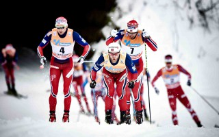 Wintersport, 05.12.2015, Lillehammer, Norway (NOR):Niklas Dyrhaug (NOR), Martin Johnsrud Sundby (NOR), Hans Christer Holund (NOR), (l-r)  - FIS world cup cross-country, skiathlon men, Lillehammer (NOR). www.nordicfocus.com. © Felgenhauer/NordicFocus. Every downloaded picture is fee-liable.