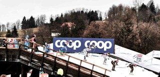 Wintersport, 05.01.2016, Oberstdorf, Germany (GER): athletes pass the bridge  - FIS world cup cross-country, tour de ski, individual sprint, Oberstdorf (GER). www.nordicfocus.com. © Felgenhauer/NordicFocus. Every downloaded picture is fee-liable.