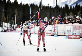 Wintersport, 09.03.2016, Canmore, Canada (CAN):Heidi Weng (NOR) - FIS world cup cross-country, skiathlon women, Canmore (CAN). www.nordicfocus.com. © Felgenhauer/NordicFocus. Every downloaded picture is fee-liable.