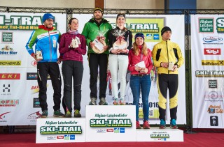 Ski Trail 2016, 30.01.2016, Tannheimer Tal, Austria (AUT) - Bad Hindelang, Germany (GER):Eric Thomas (GER), Stefan Sutter (AUT), Martin Sutter (AUT) - Skitrail Tannheimertal, Bad Hindelang (GER). www.nordicfocus.com. © Felgenhauer/NordicFocus. Every downloaded picture is fee-liable.