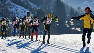 Ski Trail 2016, 30.01.2016, Tannheimer Tal, Austria (AUT) - Bad Hindelang, Germany (GER): Martin Sutter (AUT), Benjamin Waidelich (GER), Christian Baldauf (AUT), (l-r)  - Skitrail Tannheimertal, Bad Hindelang (GER). www.nordicfocus.com. © Felgenhauer/NordicFocus. Every downloaded picture is fee-liable.