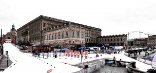 Wintersport, 11.02.2016, Stockholm, Sweden (SWE): the royal palace and the race track  - FIS world cup cross-country, individual sprint, Stockholm (SWE). www.nordicfocus.com. © Felgenhauer/NordicFocus. Every downloaded picture is fee-liable.