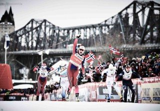 Wintersport, 01.03.2016, Gatineau, Canada (CAN):Heidi Weng (NOR), Stina Nilsson (SWE), Maiken Caspersen Falla (NOR), Ida Ingemarsdotter (SWE), Jessica Diggins (USA), (l-r)  - FIS world cup cross-country, individual sprint, Gatineau (CAN). www.nordicfocus.com. © Felgenhauer/NordicFocus. Every downloaded picture is fee-liable.