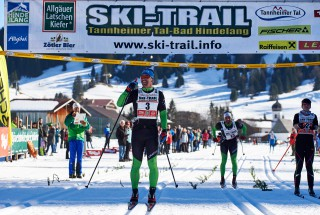 Ski Trail 2016, 30.01.2016, Tannheimer Tal, Austria (AUT) - Bad Hindelang, Germany (GER): Michael Greis (GER), Wolfgang Lagler (GER), (l-r)  - Skitrail Tannheimertal, Bad Hindelang (GER). www.nordicfocus.com. © Felgenhauer/NordicFocus. Every downloaded picture is fee-liable.
