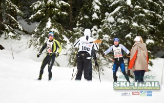 Ski Trail 2016, 31.01.2016, Tannheimer Tal, Austria (AUT) - Bad Hindelang, Germany (GER): last racer and winners meet at the track  - Skitrail Tannheimertal, Bad Hindelang (GER). www.nordicfocus.com. © Felgenhauer/NordicFocus. Every downloaded picture is fee-liable.