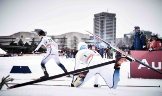 Wintersport, 01.03.2016, Gatineau, Canada (CAN):Ida Sargent (USA), Hanna Falk (SWE), (l-r)  - FIS world cup cross-country, individual sprint, Gatineau (CAN). www.nordicfocus.com. © Felgenhauer/NordicFocus. Every downloaded picture is fee-liable.