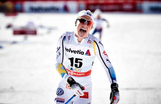 Wintersport, 12.12.2015, Davos, Switzerland (SUI):Emma Wiken (SWE) - FIS world cup cross-country, 15km women, Davos (SUI). www.nordicfocus.com. © Felgenhauer/NordicFocus. Every downloaded picture is fee-liable.