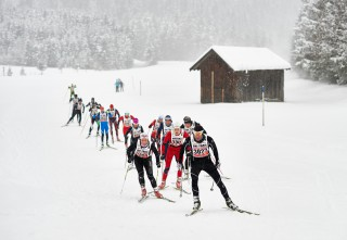 Skitrail Tannheimer Tal Bad Hindelang 2015, 25.01.2015, Tannheimer Tal, Austria (AUT): Sarah Wagner (GER), Reto Fierz (GER), (l-r) 