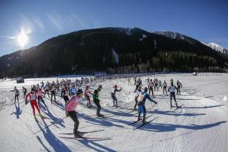 Dolomitenlauf Skating 2016, 24.01.2016, Lienz, Austria (AUT): Starting Group of the Dolomitenlauf  - FIS Marathon Cup Dolomitenlauf, Lienz (AUT). www.nordicfocus.com. © Russolo/NordicFocus. Every downloaded picture is fee-liable.