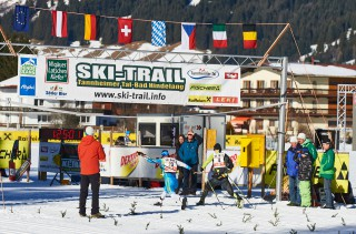 Ski Trail 2016, 30.01.2016, Tannheimer Tal, Austria (AUT) - Bad Hindelang, Germany (GER): Eric Thomas (GER), Stefan Sutter (AUT), (l-r)  - Skitrail Tannheimertal, Bad Hindelang (GER). www.nordicfocus.com. © Felgenhauer/NordicFocus. Every downloaded picture is fee-liable.