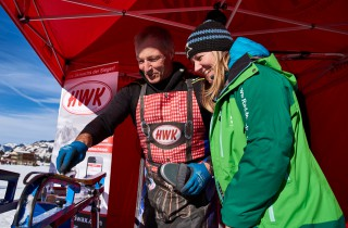Ski Trail 2016, 30.01.2016, Tannheimer Tal, Austria (AUT) - Bad Hindelang, Germany (GER): waxing demonstration  - Skitrail Tannheimertal, Bad Hindelang (GER). www.nordicfocus.com. © Felgenhauer/NordicFocus. Every downloaded picture is fee-liable.