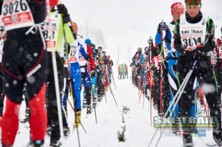 Ski Trail 2016, 31.01.2016, Tannheimer Tal, Austria (AUT) - Bad Hindelang, Germany (GER): long start rows  - Skitrail Tannheimertal, Bad Hindelang (GER). www.nordicfocus.com. © Felgenhauer/NordicFocus. Every downloaded picture is fee-liable.