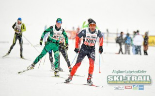 Ski Trail 2016, 31.01.2016, Tannheimer Tal, Austria (AUT) - Bad Hindelang, Germany (GER):Nick Montgomery (AUS), Dani Raess (SUI) - Skitrail Tannheimertal, Bad Hindelang (GER). www.nordicfocus.com. © Felgenhauer/NordicFocus. Every downloaded picture is fee-liable.