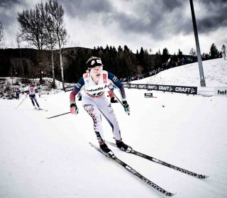Wintersport, 09.01.2016, Val di Fiemme, Italy (ITA):Jessica Diggins (USA) - FIS world cup cross-country, tour de ski, mass women, Val di Fiemme (ITA). www.nordicfocus.com. © Felgenhauer/NordicFocus. Every downloaded picture is fee-liable.