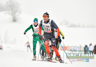 Ski Trail 2016, 31.01.2016, Tannheimer Tal, Austria (AUT) - Bad Hindelang, Germany (GER):Nick Montgomery (AUS), Dani Raess (SUI), (l-r)  - Skitrail Tannheimertal, Bad Hindelang (GER). www.nordicfocus.com. © Felgenhauer/NordicFocus. Every downloaded picture is fee-liable.