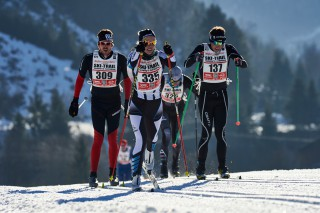 Ski Trail 2016, 30.01.2016, Tannheimer Tal, Austria (AUT) - Bad Hindelang, Germany (GER): Tobias Eisert (GER), Jessica Mueller (GER), Christoph Gasche (SUI), (l-r)  - Skitrail Tannheimertal, Bad Hindelang (GER). www.nordicfocus.com. © Felgenhauer/NordicFocus. Every downloaded picture is fee-liable.