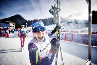 Wintersport, 12.12.2015, Davos, Switzerland (SUI):Coraline Thomas Hugue (FRA) - FIS world cup cross-country, 15km women, Davos (SUI). www.nordicfocus.com. © Felgenhauer/NordicFocus. Every downloaded picture is fee-liable.